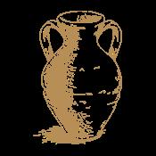 This is the restaurant logo for Testaccio – Antica Cucina Romana
