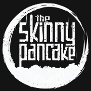 This is the restaurant logo for Skinny Pancake- Airport