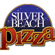 This is the restaurant logo for Silver Beach Pizza