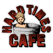 This is the restaurant logo for Hard Times Cafe