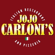 This is the restaurant logo for JoJo Carloni's Italian Restaurant & Pizzeria