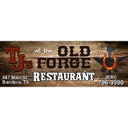 This is the restaurant logo for TJ's at The Old Forge  & Cowgirl Coffee
