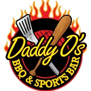 This is the restaurant logo for Daddy O's BBQ & Sports Bar