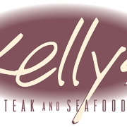 This is the restaurant logo for Kelly's Steak & Seafood