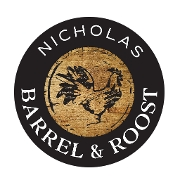 This is the restaurant logo for Nicholas Barrel & Roost