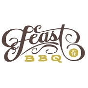 This is the restaurant logo for Feast BBQ
