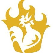 This is the restaurant logo for Royals Hot Chicken