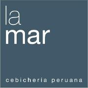 This is the restaurant logo for La Mar Cebicheria Peruana