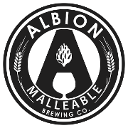 This is the restaurant logo for Albion Malleable Brewing Co.