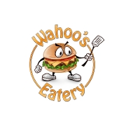 This is the restaurant logo for Wahoo's Eatery