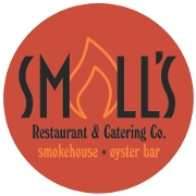 This is the restaurant logo for Small's Smokehouse & Oyster Bar
