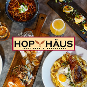 This is the restaurant logo for Hop Haus