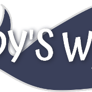 This is the restaurant logo for Woody's Wharf