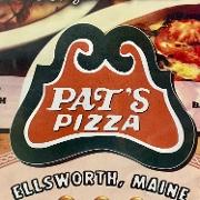 This is the restaurant logo for Pat's Pizza - Ellsworth