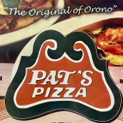 This is the restaurant logo for Pat's Pizza - Bar Harbor