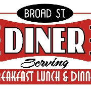 This is the restaurant logo for Broad Street Diner