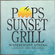 This is the restaurant logo for Pop's Sunset Grill
