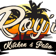This is the restaurant logo for Roy's Kitchen & Patio