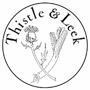 This is the restaurant logo for Thistle and Leek