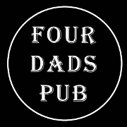 This is the restaurant logo for Four Dads Pub