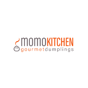 This is the restaurant logo for Momo Kitchen