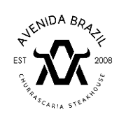 This is the restaurant logo for Avenida Brazil Churrascaria Steakhouse