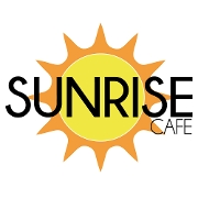 This is the restaurant logo for Sunrise Cafe