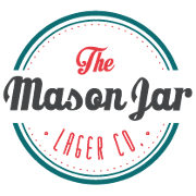 This is the restaurant logo for The Mason Jar Lager Co