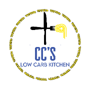 This is the restaurant logo for CC's Low Carb Kitchen