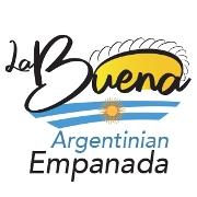 This is the restaurant logo for La Buena Empanada