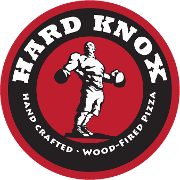 This is the restaurant logo for Hard Knox Pizza
