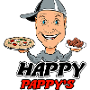 Restaurant logo for Happy Pappy's Pizza n Wings