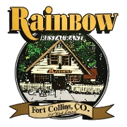 This is the restaurant logo for Rainbow Restaurant