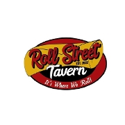 This is the restaurant logo for Roll Street Tavern