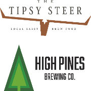 This is the restaurant logo for High Pines Brewing Company, LLC & Tipsy Steer