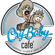 This is the restaurant logo for Cry Baby Cafe