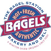 This is the restaurant logo for Bagel Station - Oakwood Drive