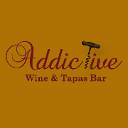 This is the restaurant logo for Addictive Wine and Tapas Bar