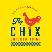 This is the restaurant logo for Fly Chix - Stadium Village