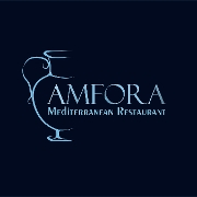 This is the restaurant logo for Amfora