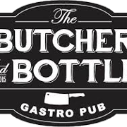 This is the restaurant logo for The Butcher and Bottle