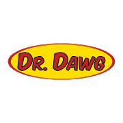 This is the restaurant logo for Dr. Dawg