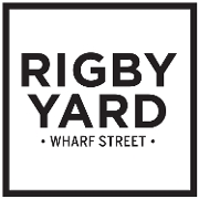 This is the restaurant logo for Rigby Yard