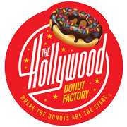 This is the restaurant logo for The Hollywood Donut Factory