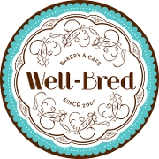 This is the restaurant logo for Well-Bred Bakery & Café