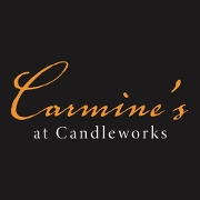 This is the restaurant logo for Carmine's at Candleworks