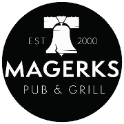 This is the restaurant logo for Magerks Pub & Grill Fort Washington