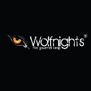 This is the restaurant logo for Wolfnights® - The Gourmet Wrap