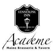 This is the restaurant logo for Academe at The Kennebunk Inn