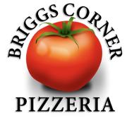 This is the restaurant logo for Briggs Corner Pizzeria